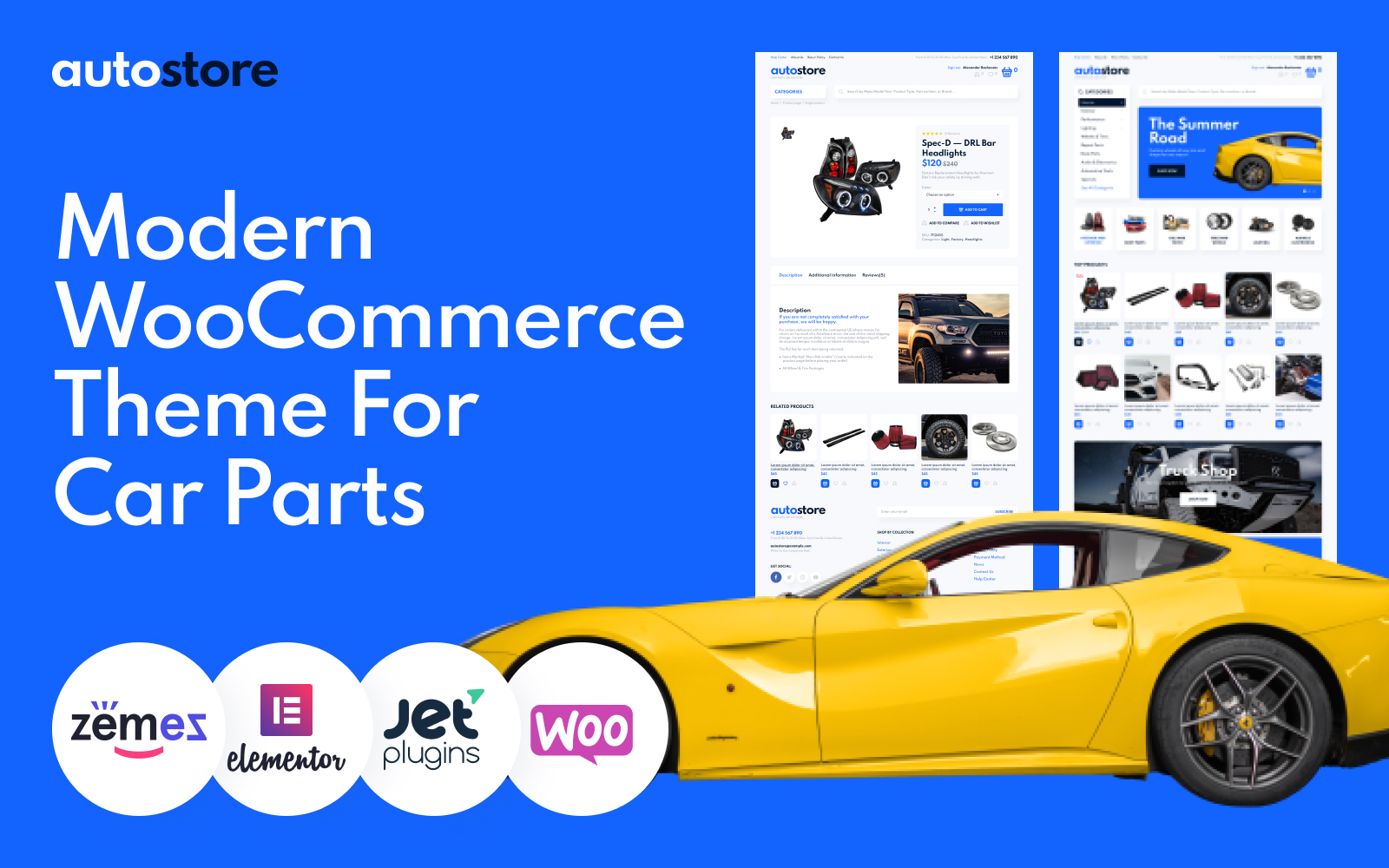 AutoStore - Car Parts Elementor WooCommerce Theme