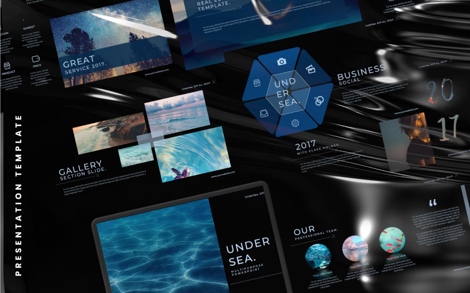 Undersea Presentation PowerPoint Template