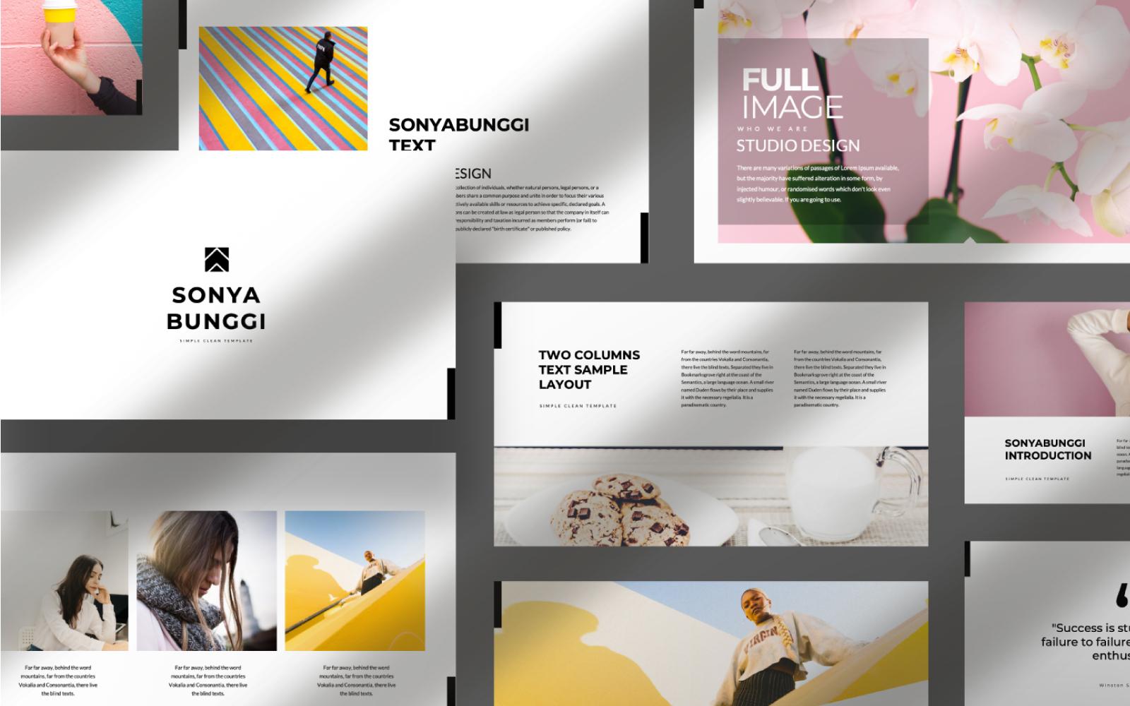 Sonya Bunggi Presentation PowerPoint Template