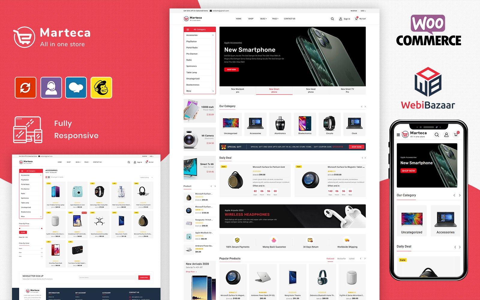 Marteca - Multipurpose Responsive WooCommerce Theme
