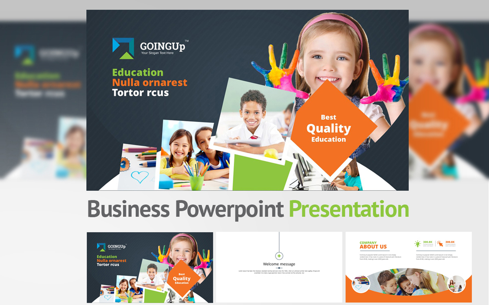 Going Up PowerPoint Template