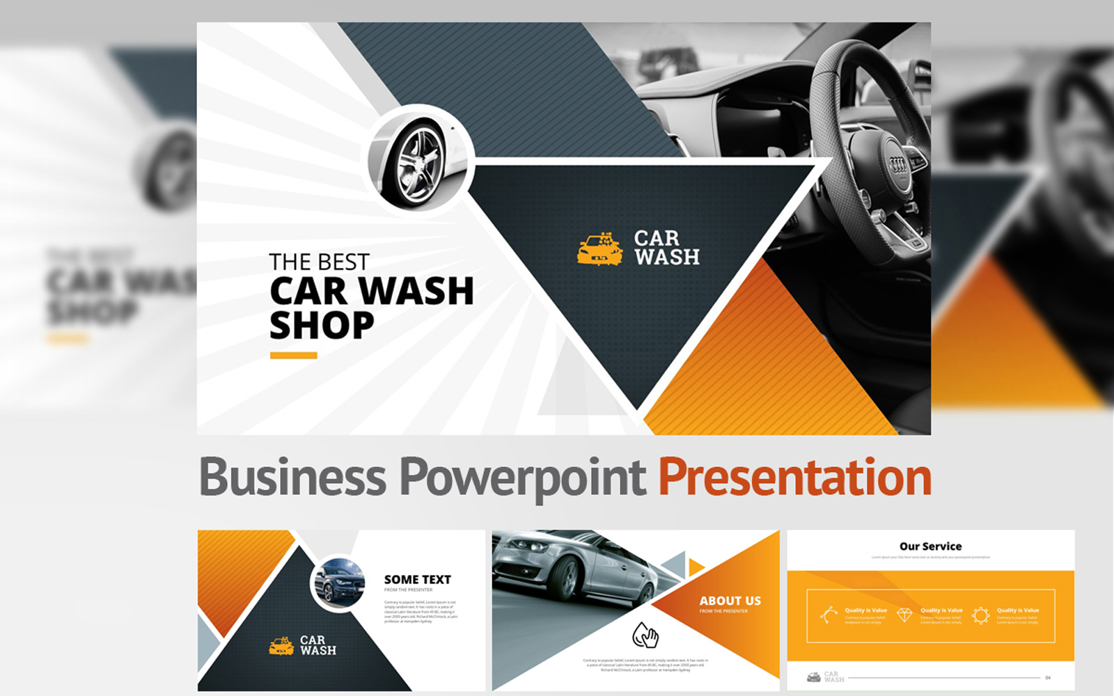 Car Wash PowerPoint Template