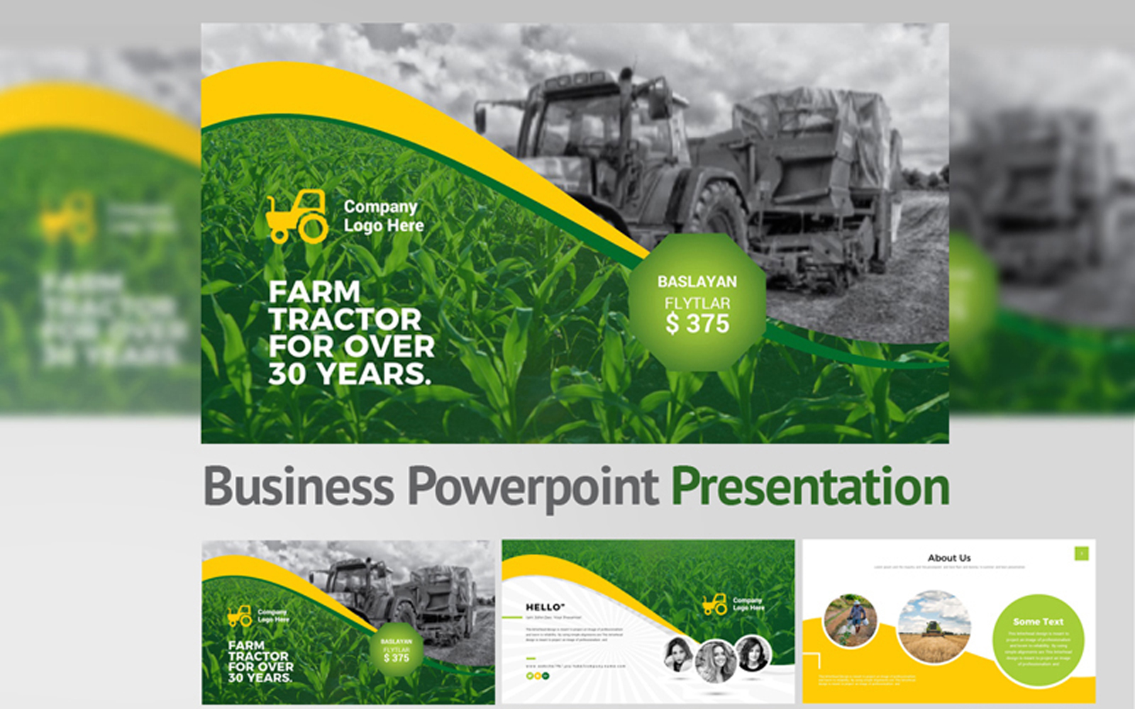 Garden Farm PowerPoint Template