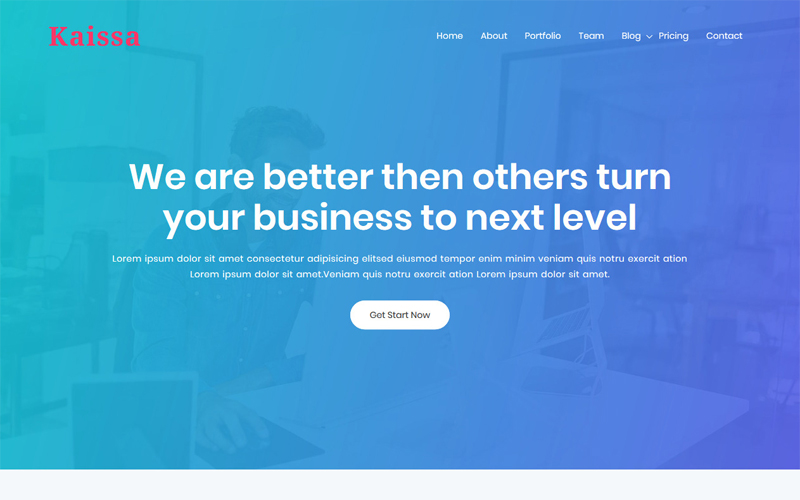 Kaissa - One Page Digital Agency WordPress Theme