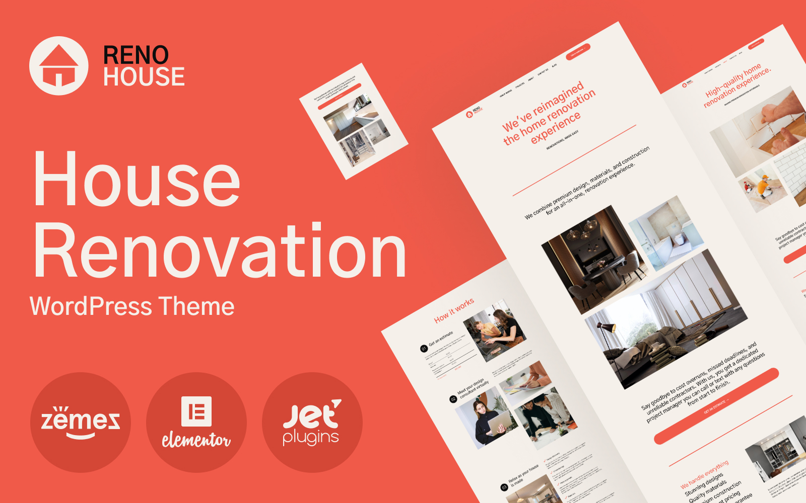 RenoHouse - Modern Construction Project Website WordPress Theme