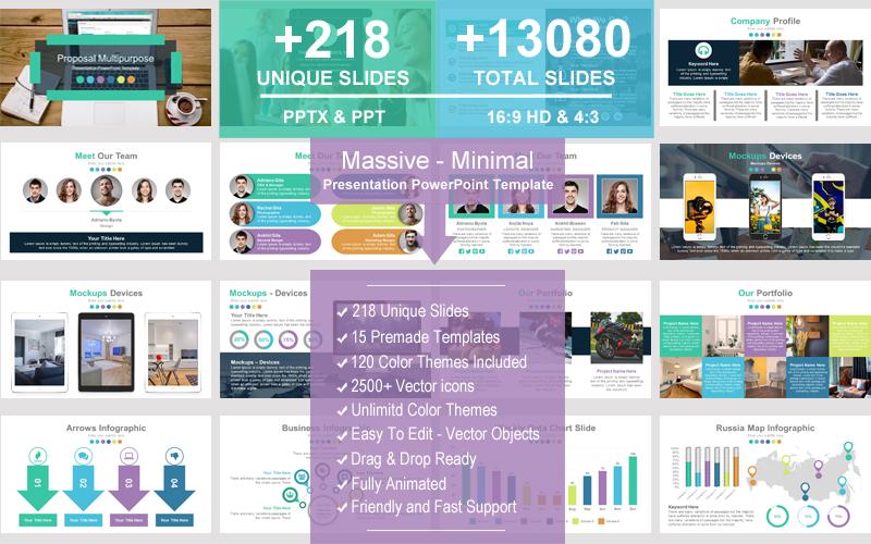 Massive - Minimal PowerPoint Template