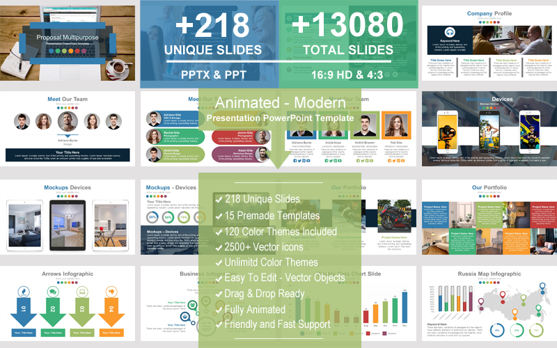Animated - Modern PowerPoint Template