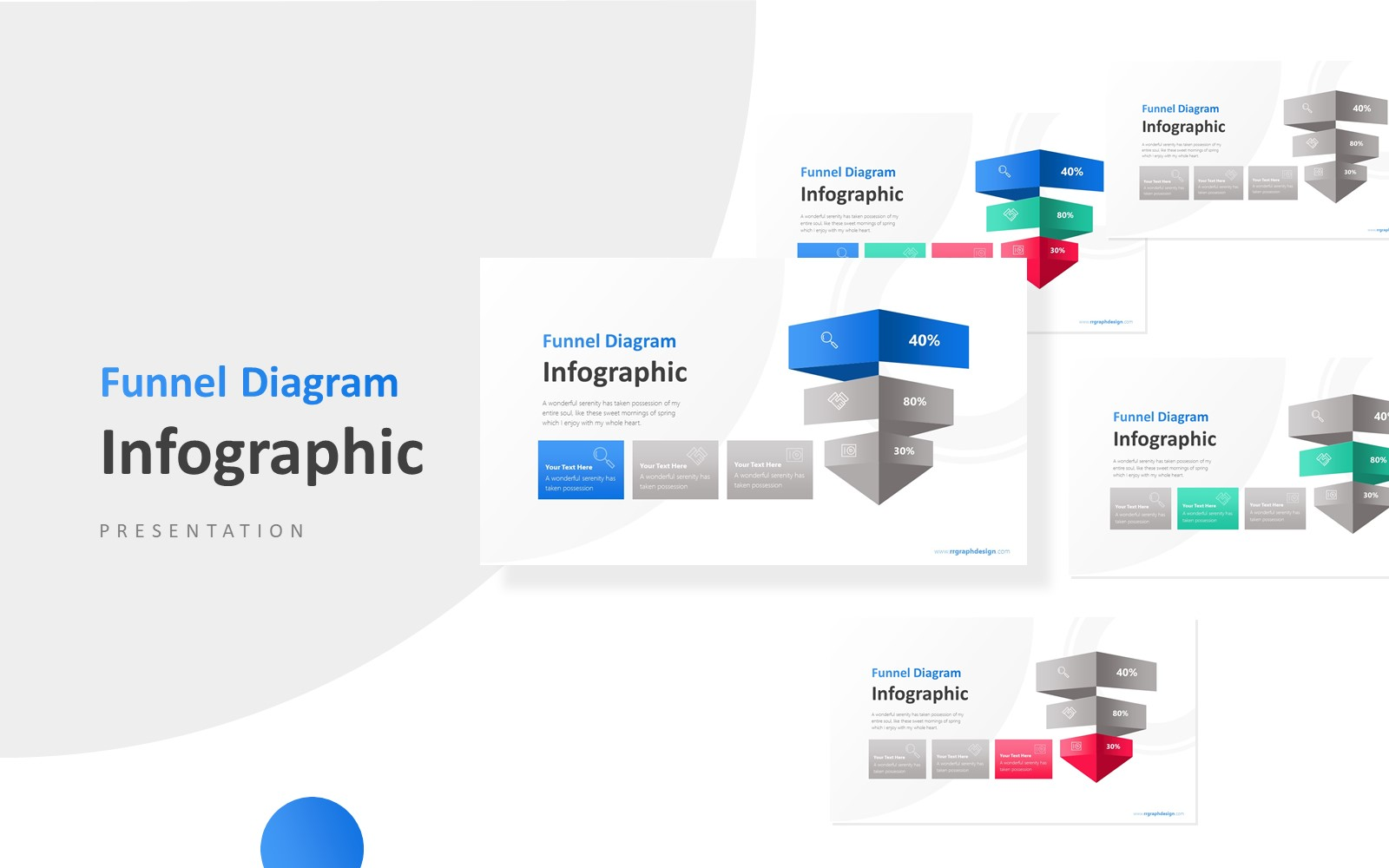 3D Business Funnel Diagram Presentation PowerPoint Template