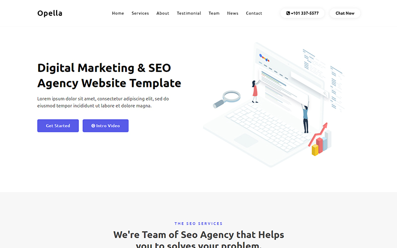 Opella - SEO Agency Website Landing Page Template