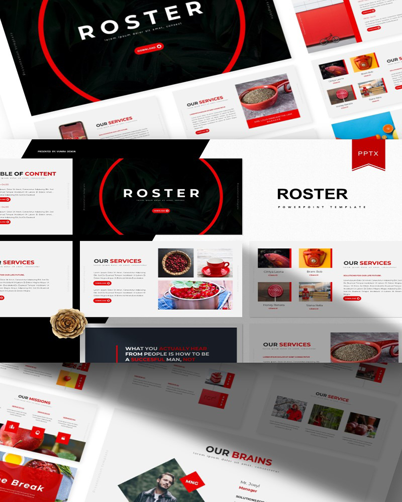 Roster | PowerPoint Template