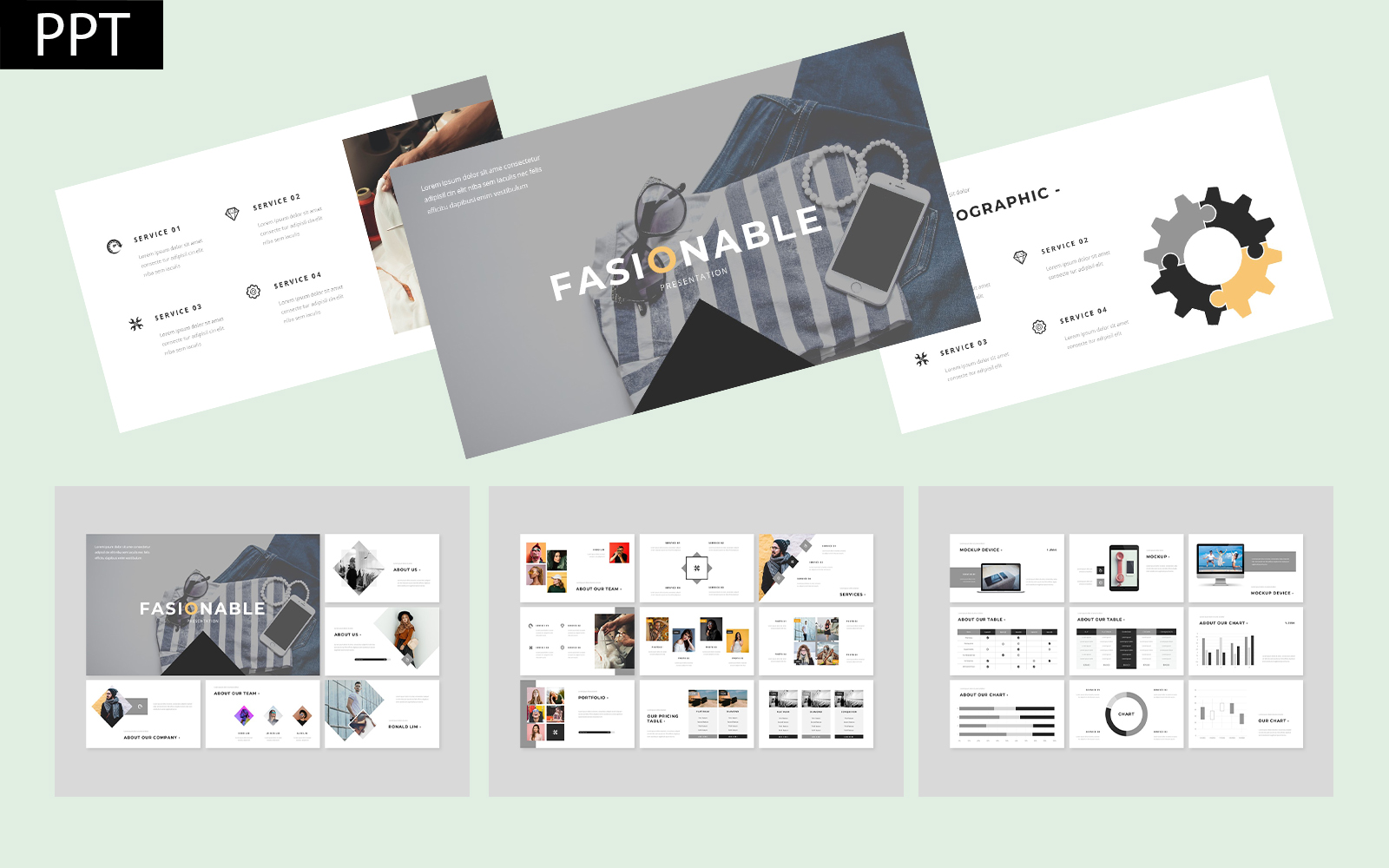 Fasionable Business PowerPoint Template