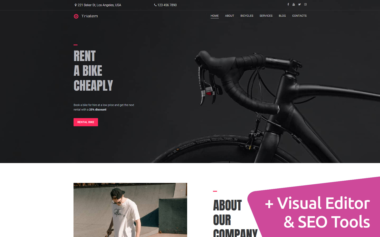 Trialem - Bike Rental Moto CMS 3 Template