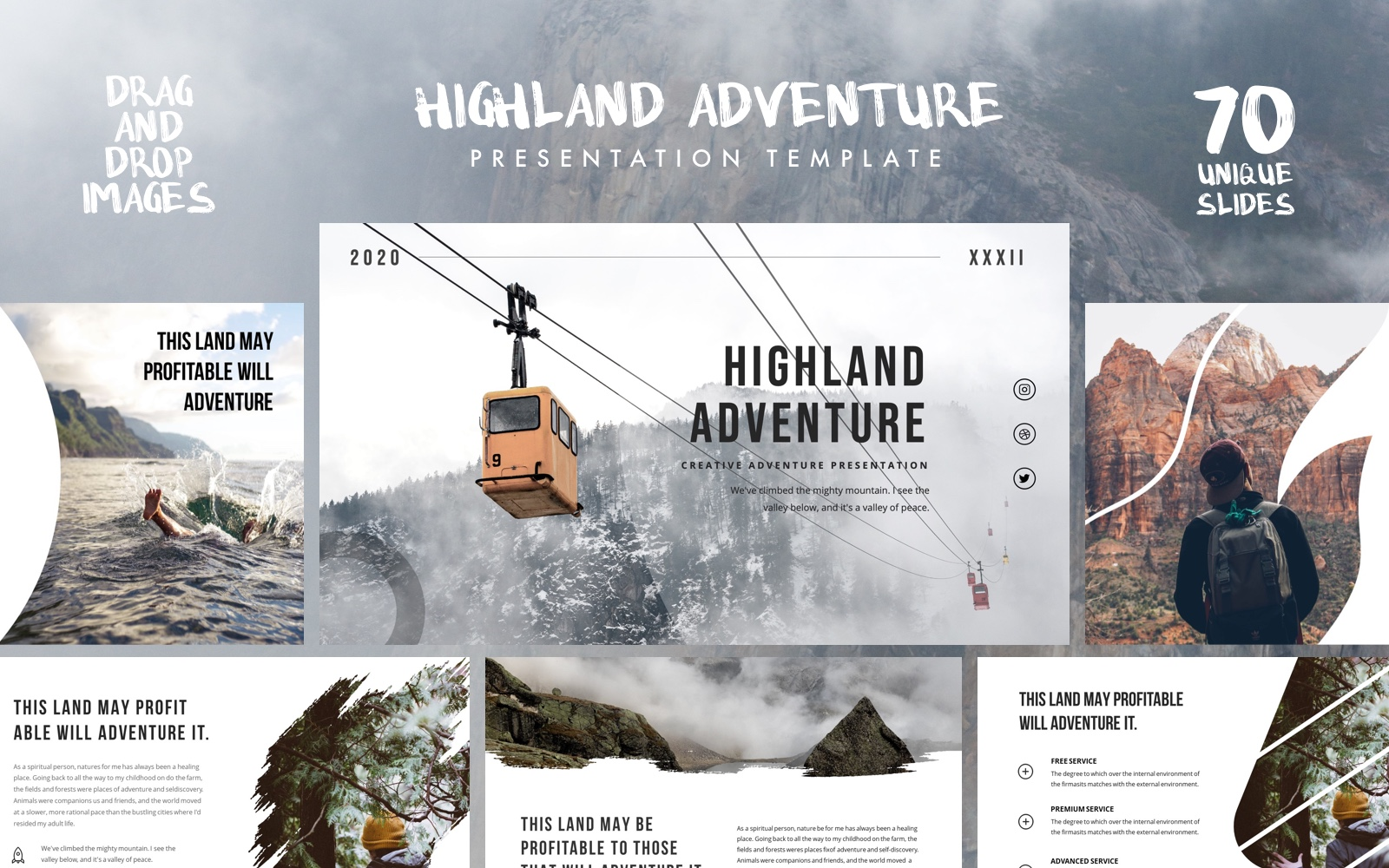 HIGHLAND - Outdoor Presentation PowerPoint Template