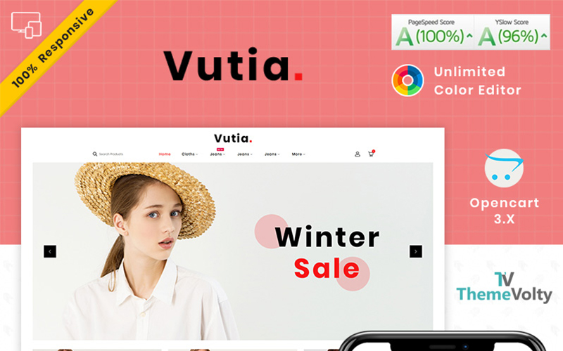 Vutia Fashion Store OpenCart Template
