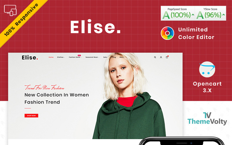 Elise Fashion OpenCart Template