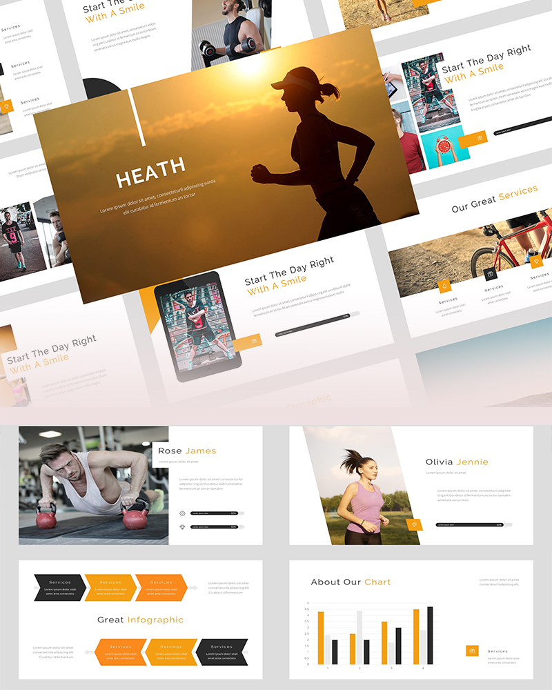 Heath For You PowerPoint Template