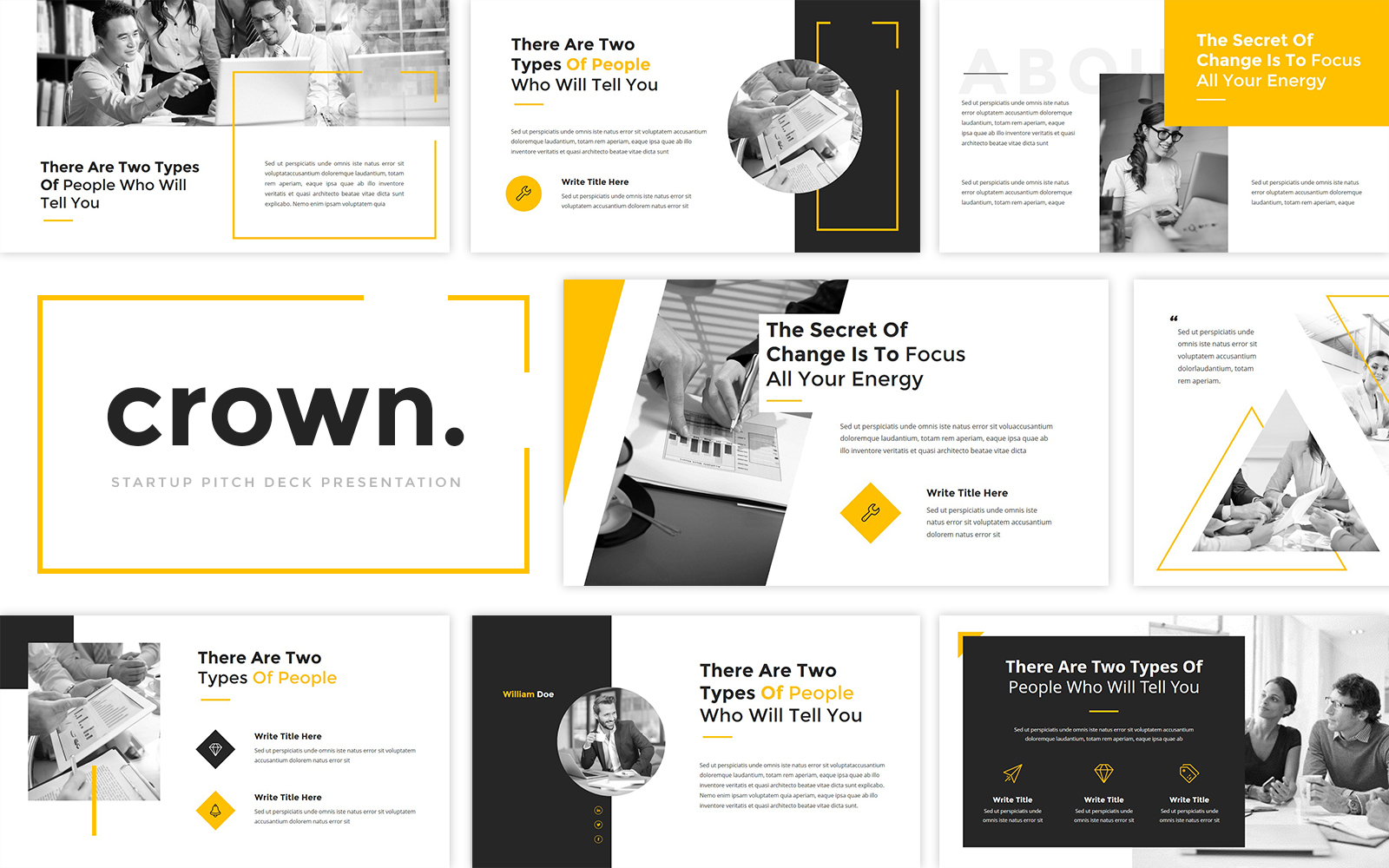 Crown - StartUp Pitch Deck PowerPoint Template