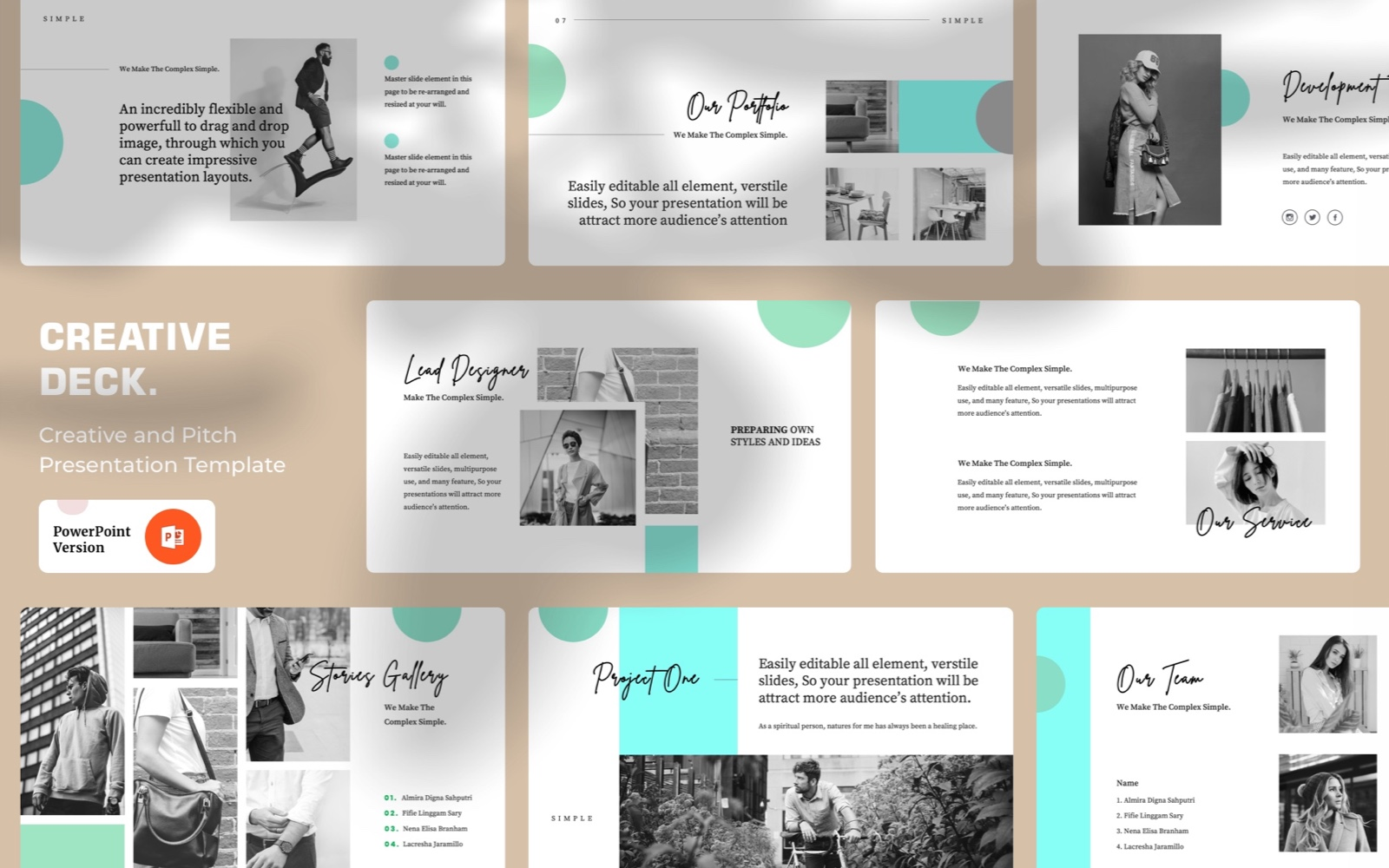 Creative Deck PowerPoint Template