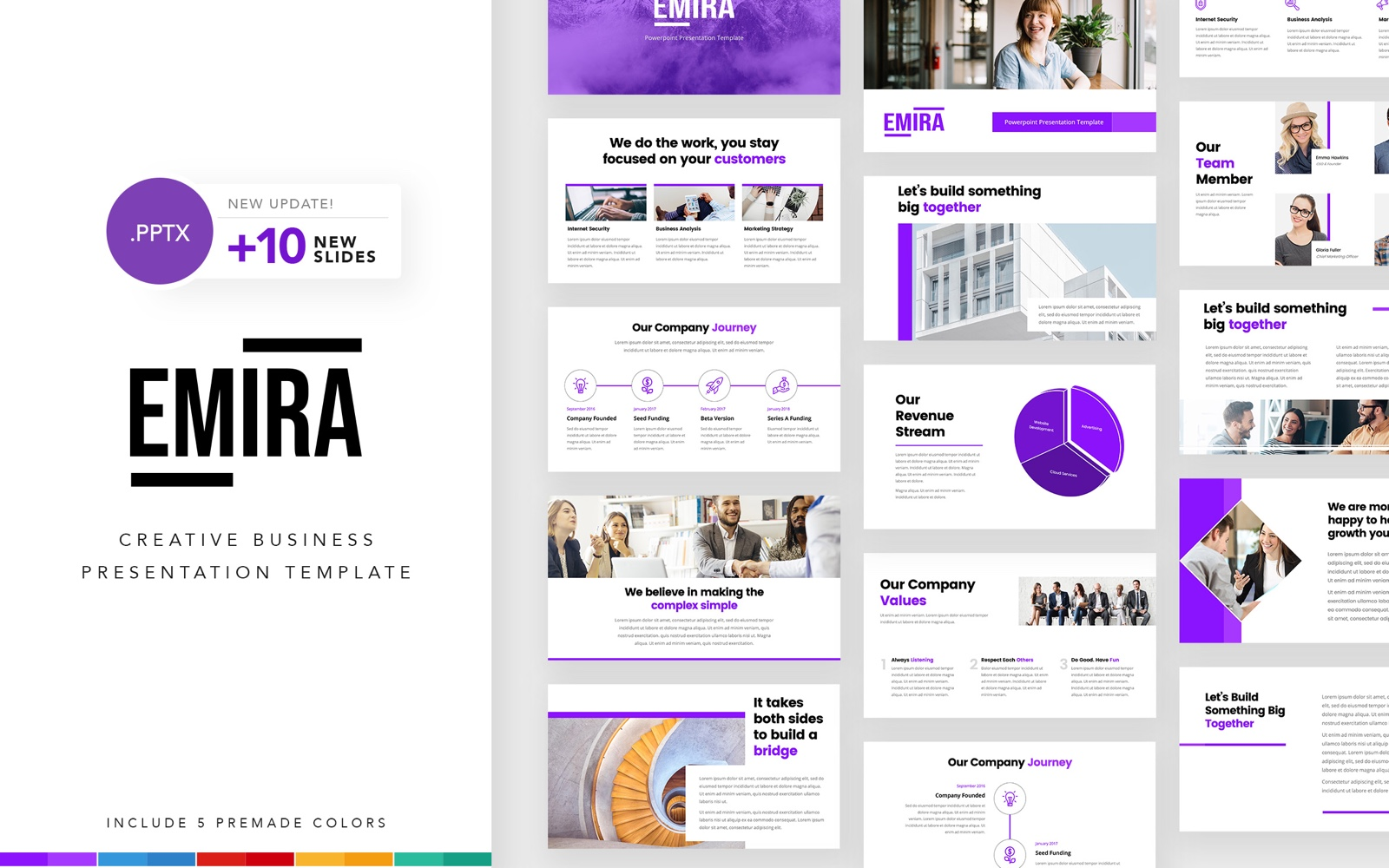 Emira - Creative Business Company PowerPoint Template