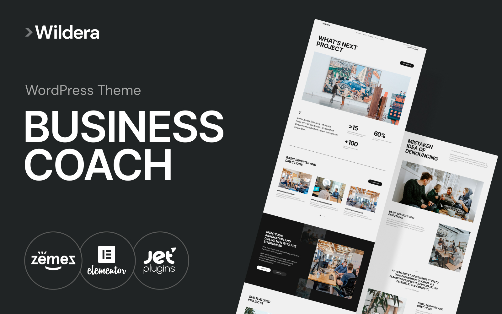 Wildera - clean business WordPress Theme