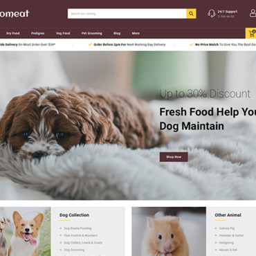 Template Animale de companie PrestaShop #102225
