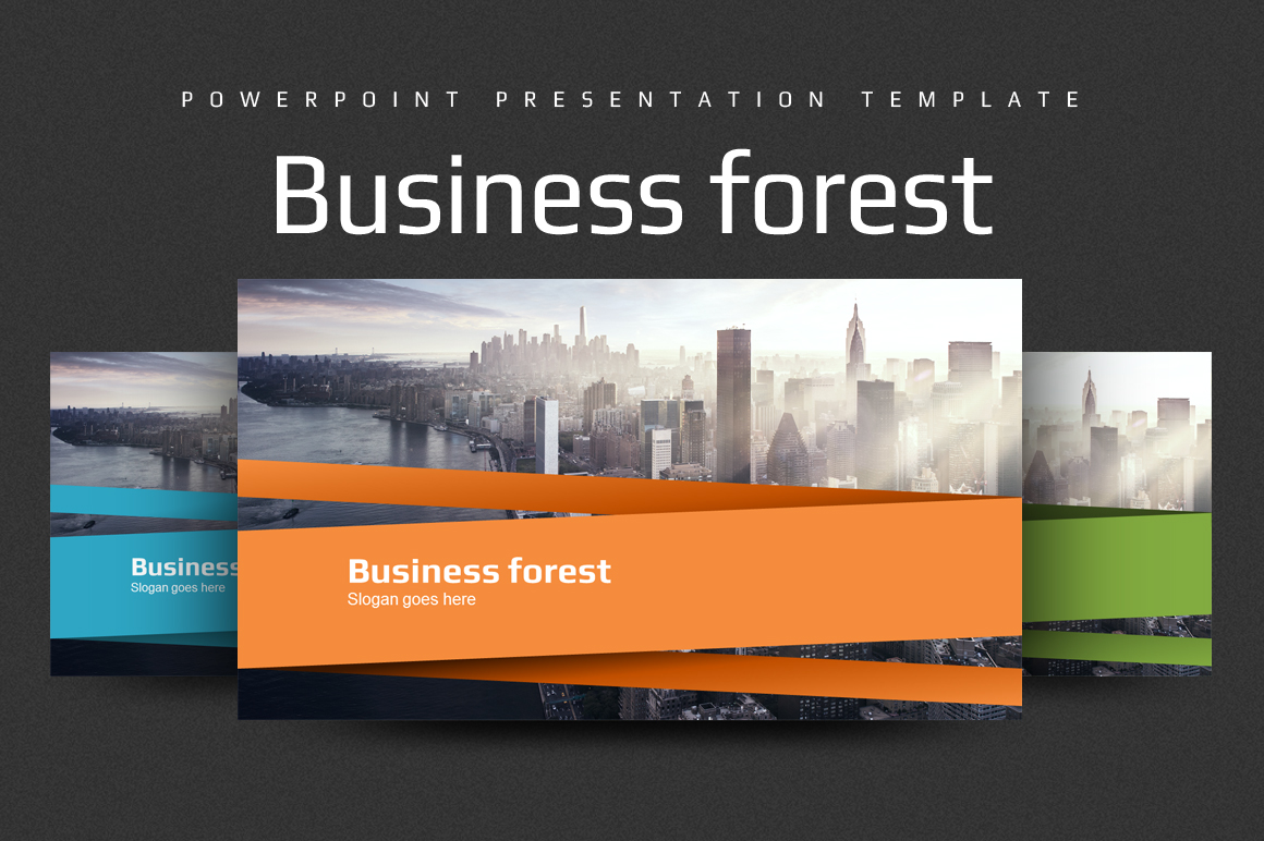 Business Forest PowerPoint Template