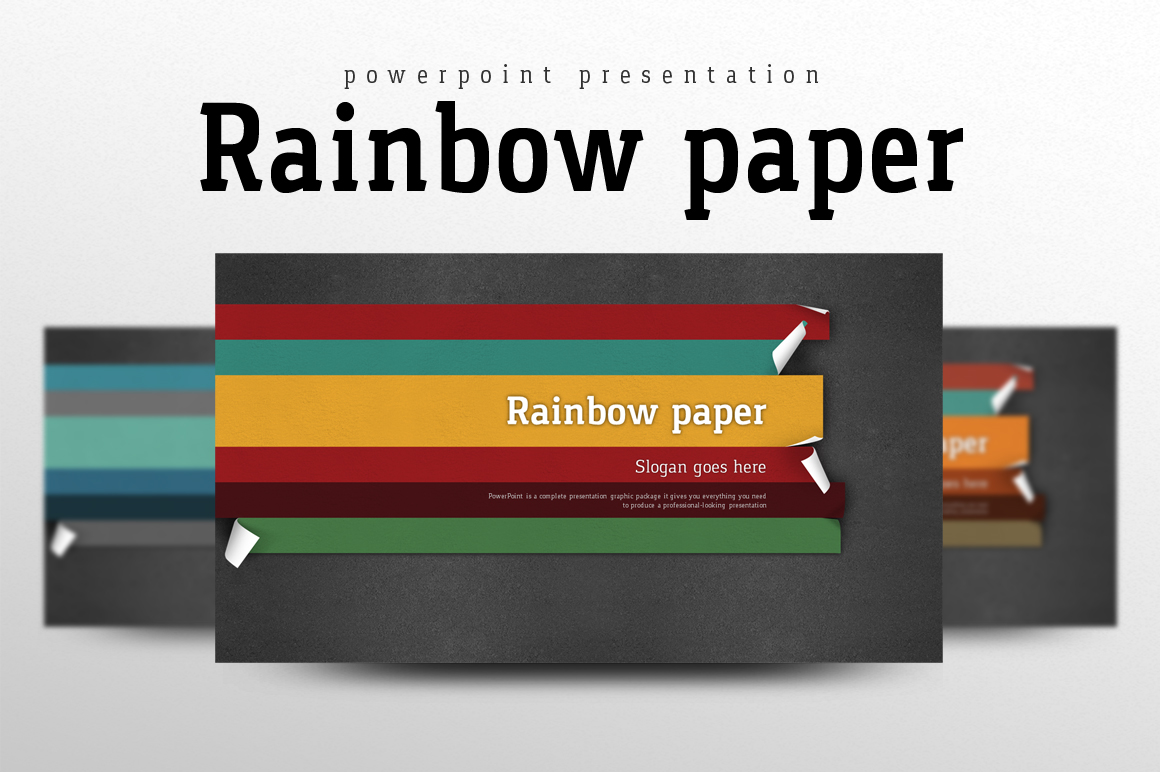 Rainbow Paper PowerPoint Template