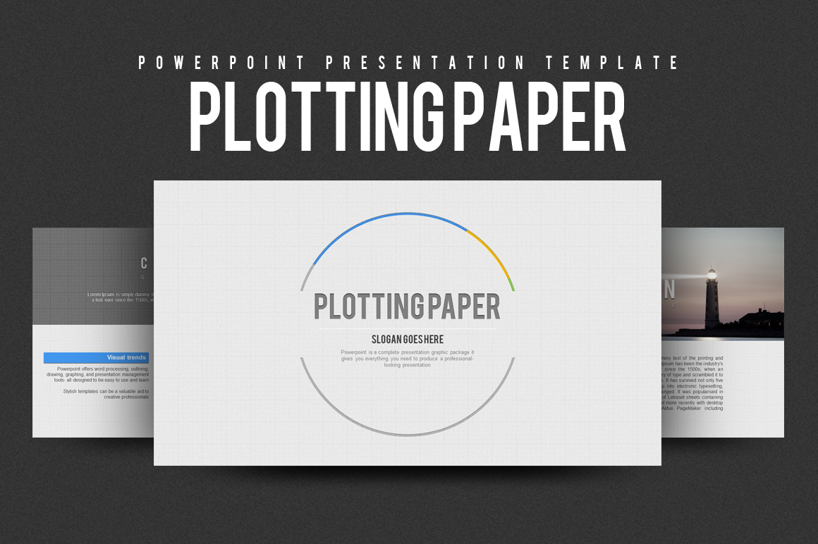 Plotting Paper PowerPoint Template