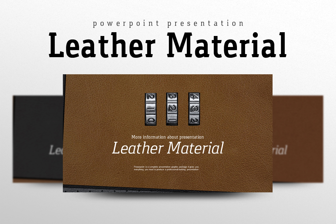 Leather Material PowerPoint Template