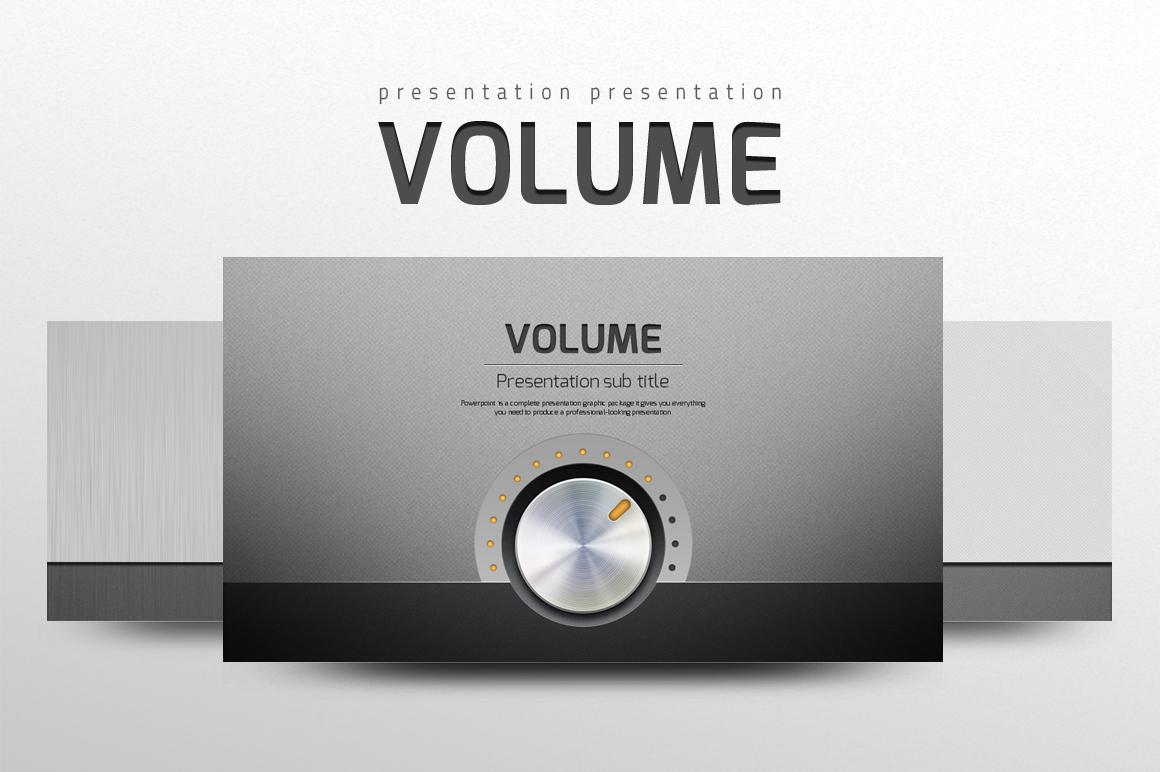 Volume PowerPoint Template