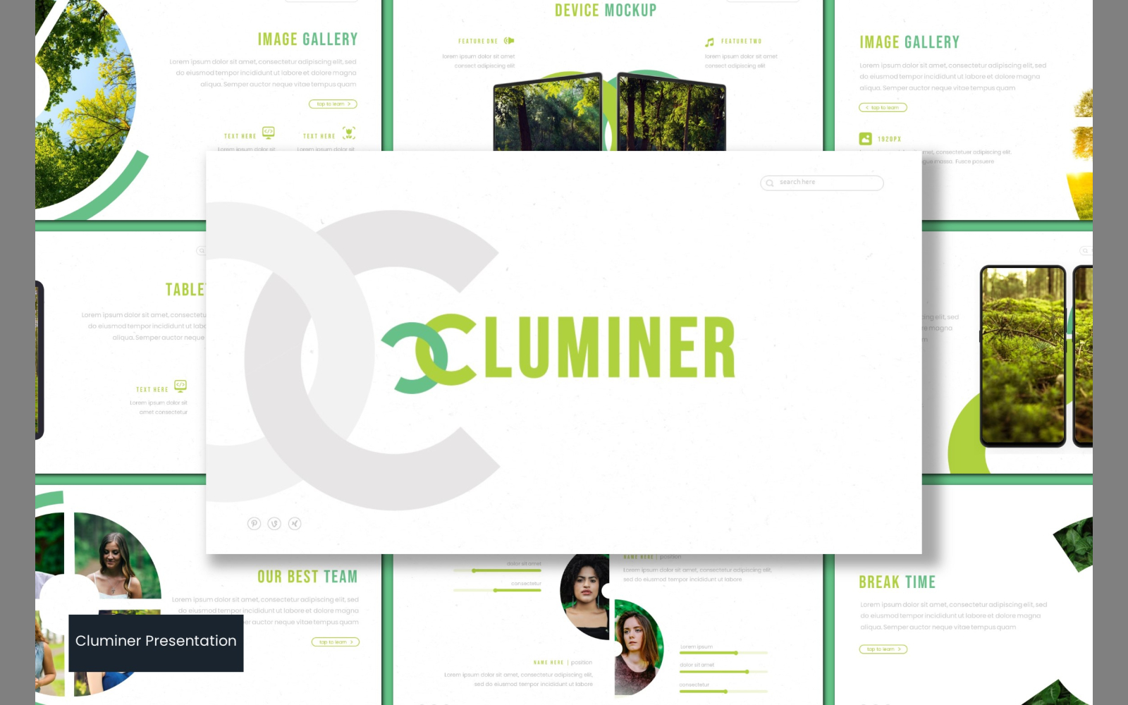 Cluminer PowerPoint Template