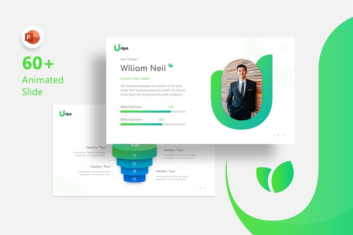 Uripe Life Style Presentation PowerPoint Template