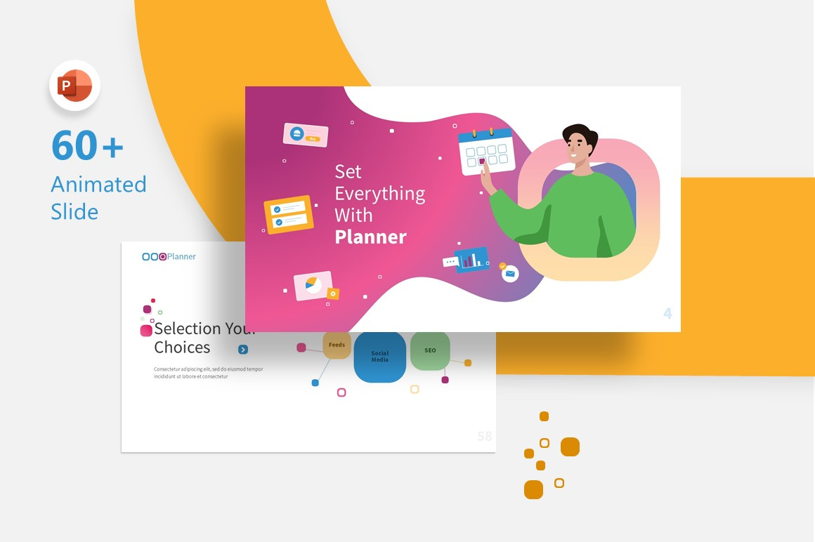 Planner Marketing Presentation Fully Animated PowerPoint Template