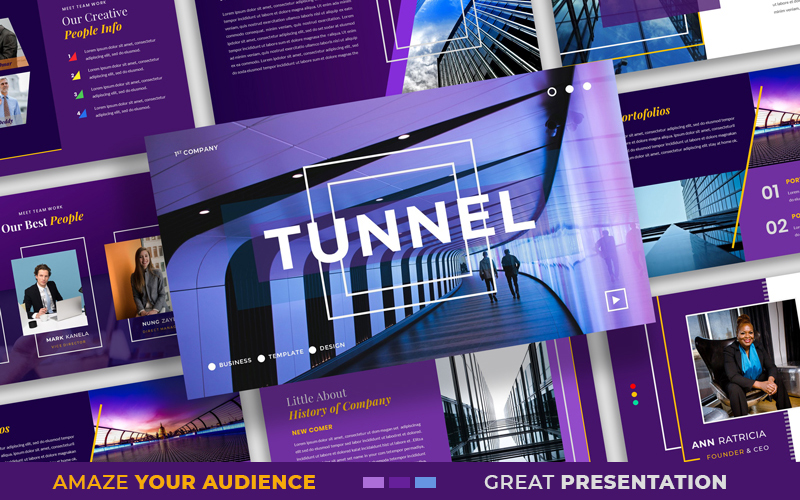 Tunnel - Business & Services Multipurpose Modern PowerPoint Template