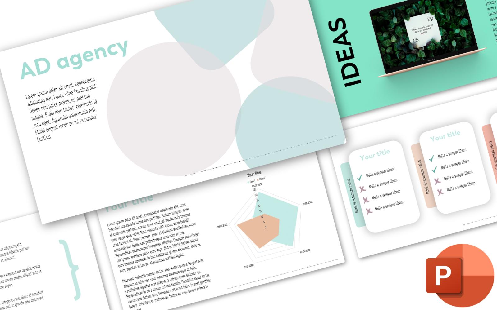 Minty Presentation PowerPoint Template