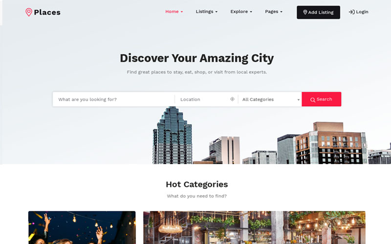 Places - Directory & Listing WordPress Theme