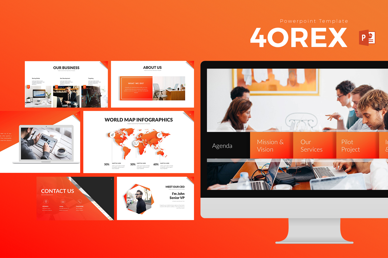 4OREX Presentation PowerPoint Template