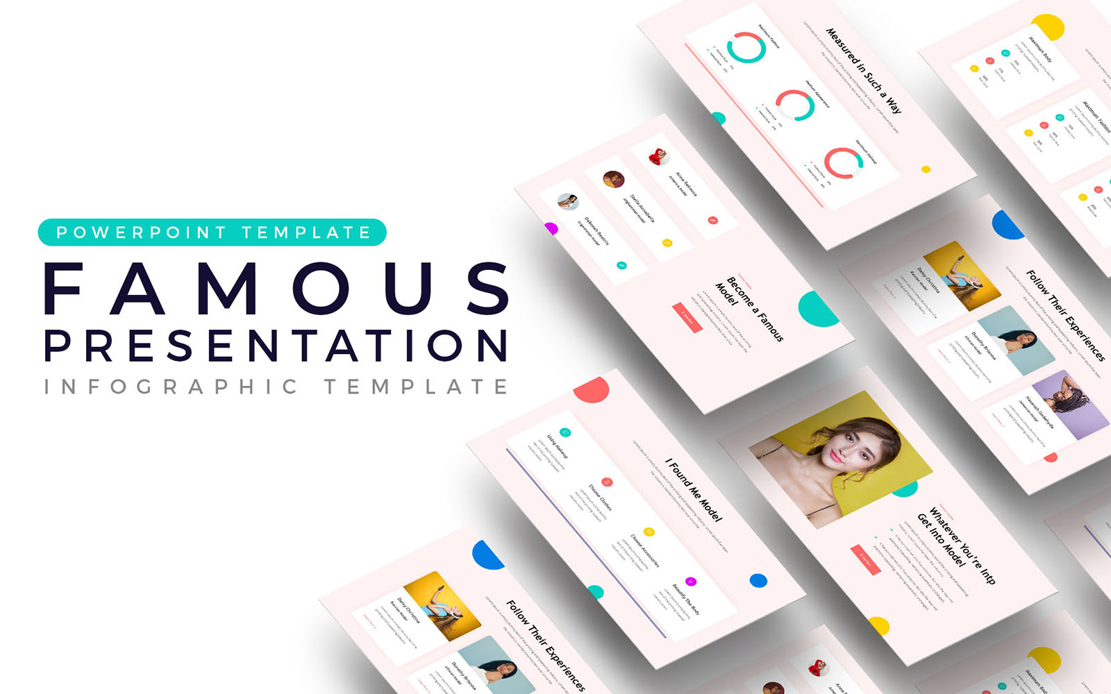 Famous Models Presentation PowerPoint Template