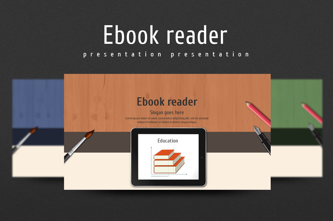 Ebook Reader PowerPoint Template