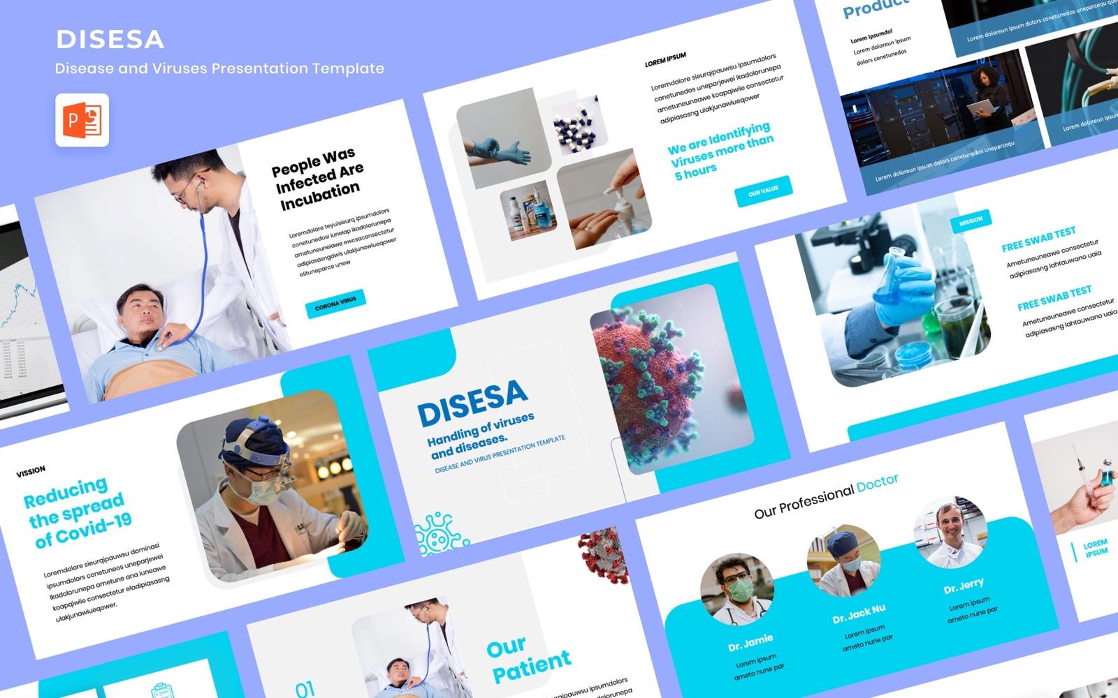 Disesa - Covirus and Health PowerPoint Template