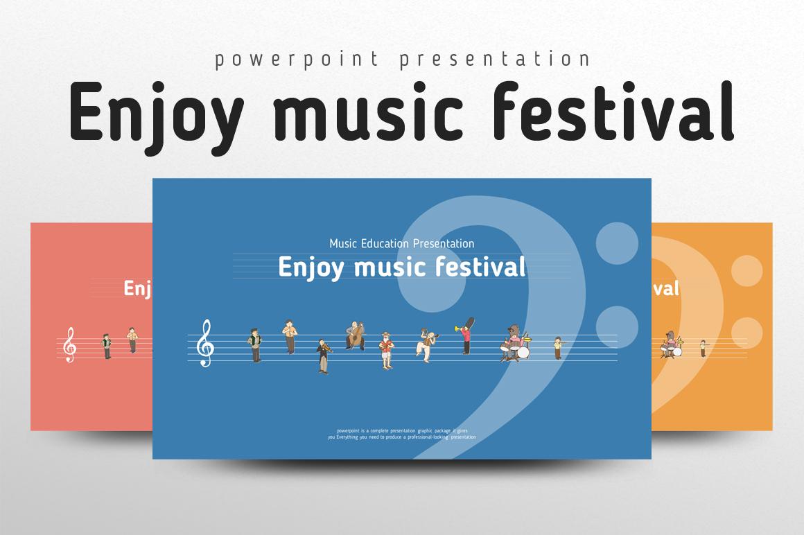 Enjoy music festival PowerPoint Template