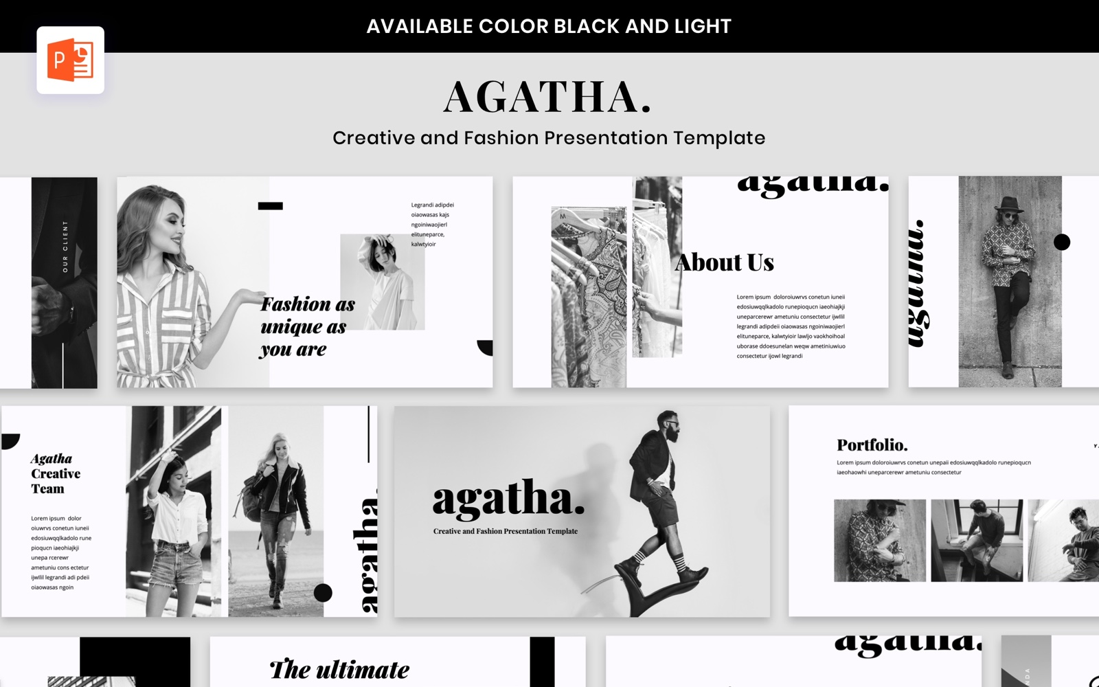 Agatha - Fashion PowerPoint Template