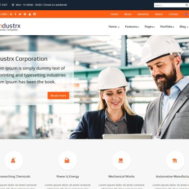 Template Industriale Joomla #102884