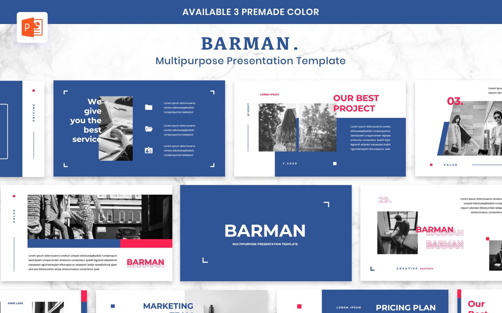 BARMAN - Creative Business PowerPoint Template