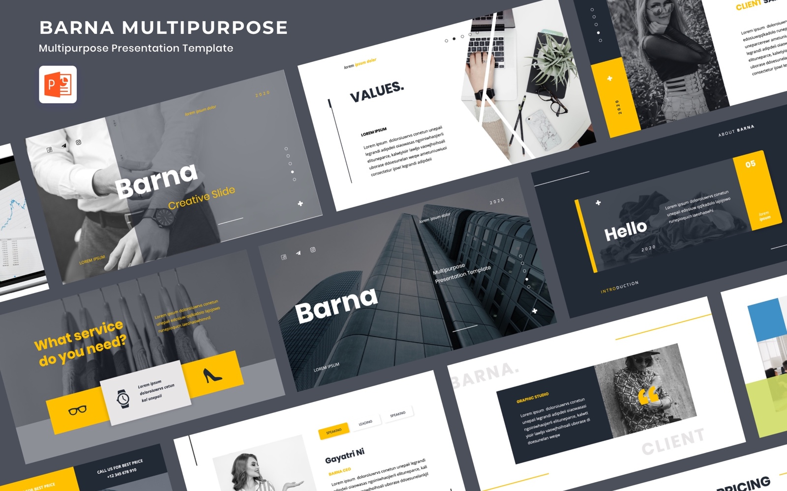 BARNA - Multipurpose PowerPoint Template