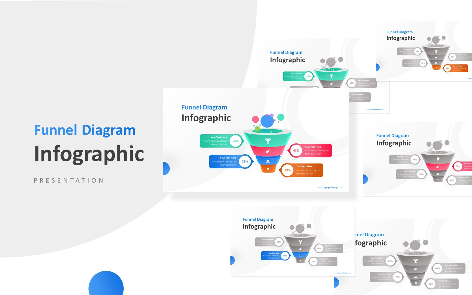 Business Framework in Funnel Infographic Presentation PowerPoint Template
