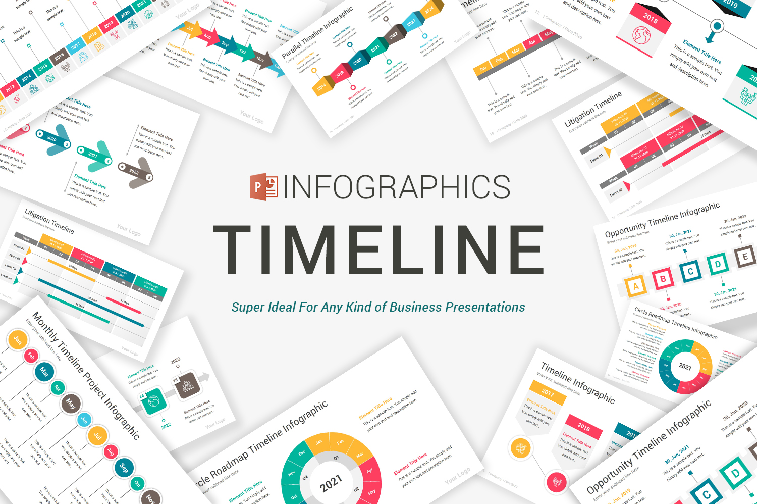 Timeline Infographics PowerPoint Template
