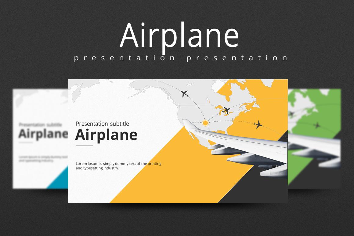 Flight PPT PowerPoint Template