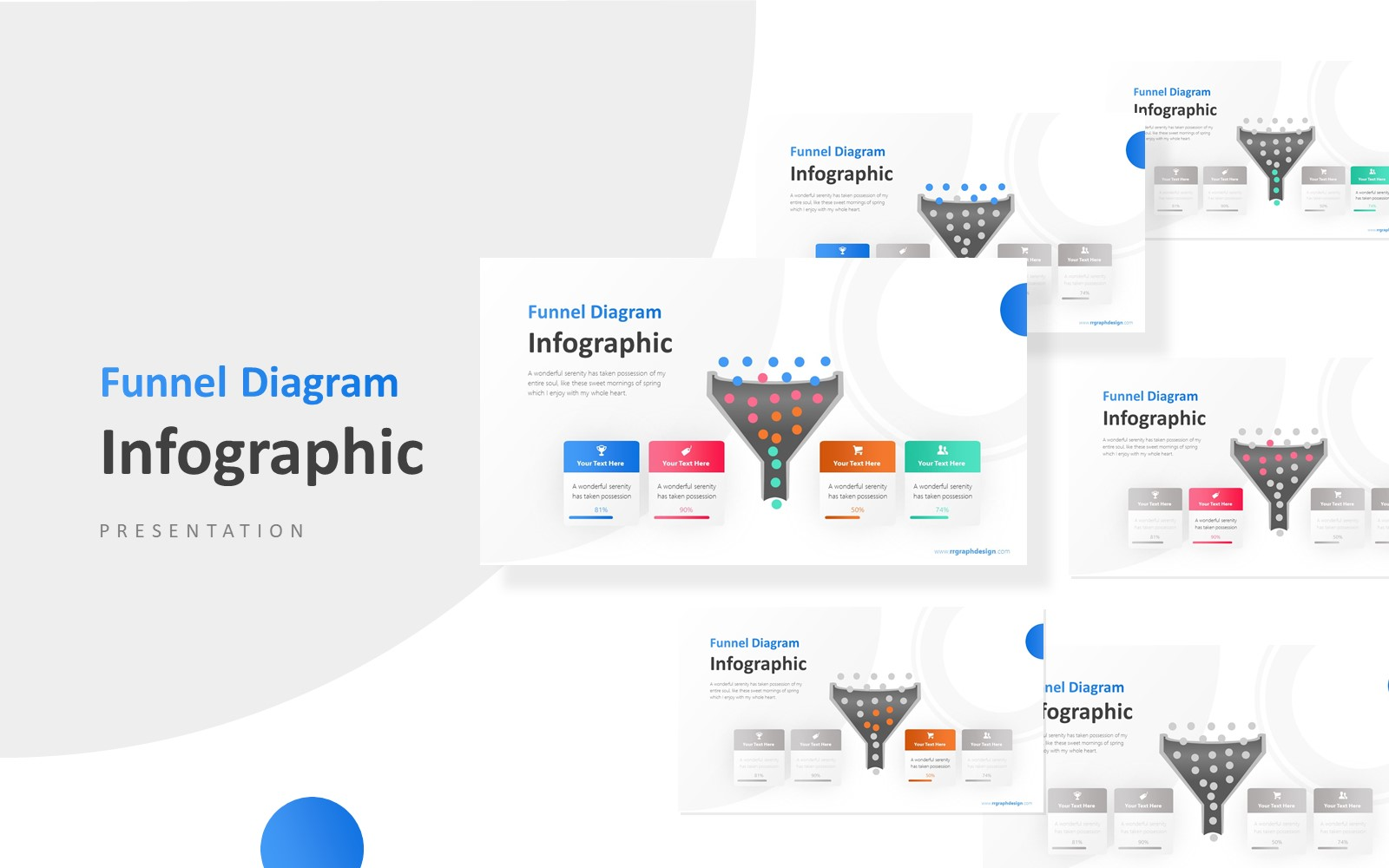 Four Process Business Infographic Presentation PowerPoint Template