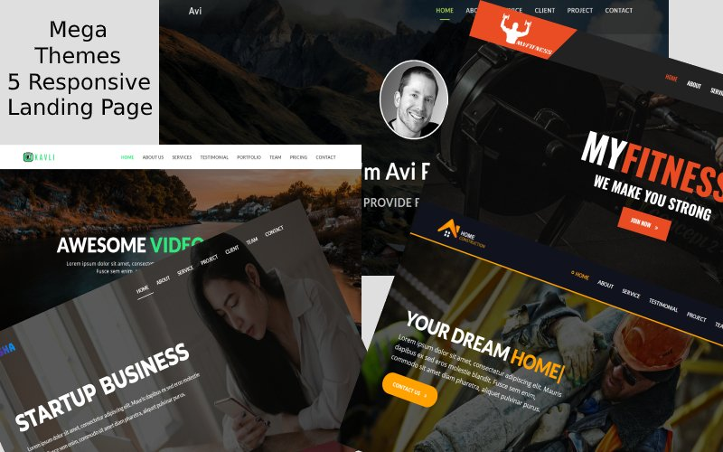12 Combo Business Landing Page Template